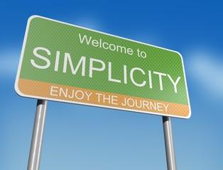 SIMPLICITY - road sign