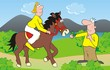 couple-horse