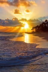 Sunrise in the Caribbean.