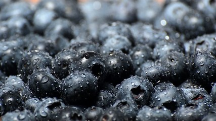 Wet Blueberries (endless loop, macro shot)