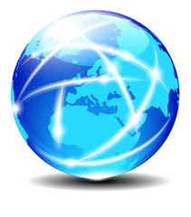 Europe Global Communication Planet