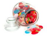 jar with colorful candies