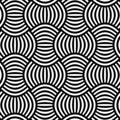Black ad white ornament seamless vector background