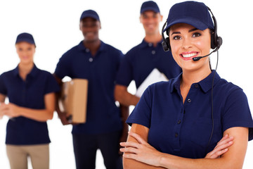 professional courier service despatcher and staff