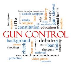 Gun Control Word Cloud Concept