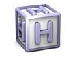 H Letter Cube