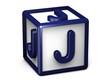 J Letter Cube