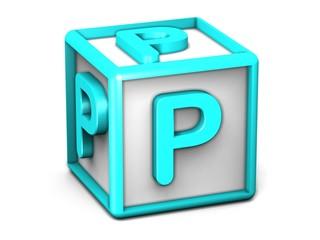 P Letter Cube