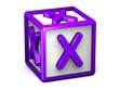 X Letter Cube