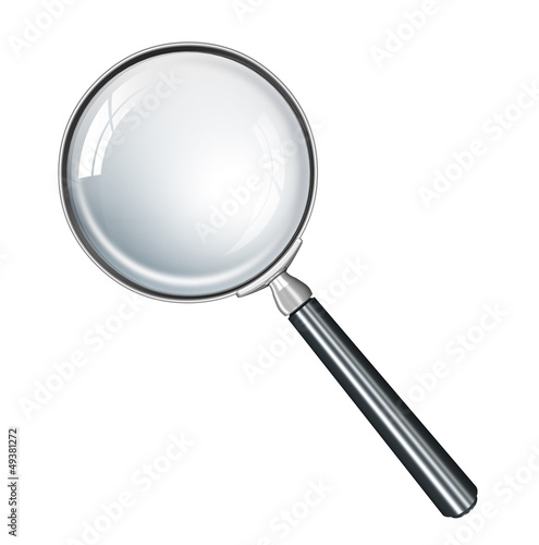 Magnifying glass realistic