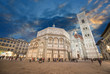 Florence. Wonderful sky colors in Piazza del Duomo - Firenze