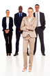 group of business people full length portrait