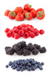 raspberries, strawberries, blueberries and blackberries