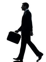 business man walking profile silhouette