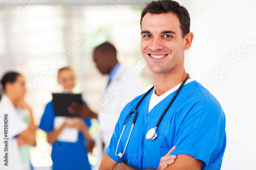 smart medical surgeon portrait in hospital