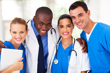 group of professional medical team closeup