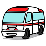 Cartoon Car 52 : Ambulance