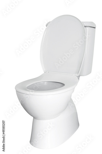 Toilet isolated on white