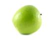 Isolated green apple. Fresh diet apple (lies).