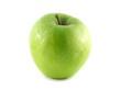 Isolated green apple. Fresh diet apple.