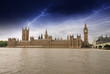 Houses of Parliament, Westminster Palace with Storm - London got
