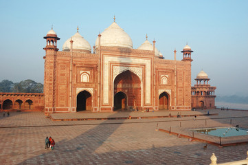 Mosque in Taj Mahal complex,Agra,India