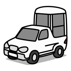 Cartoon Car 62 : Papamobile
