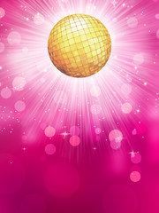 Abstract golden with disco ball. EPS 10