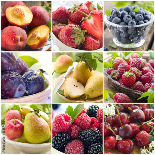 fruit and berries collage