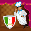Traditional italian best food from Chef.Vector