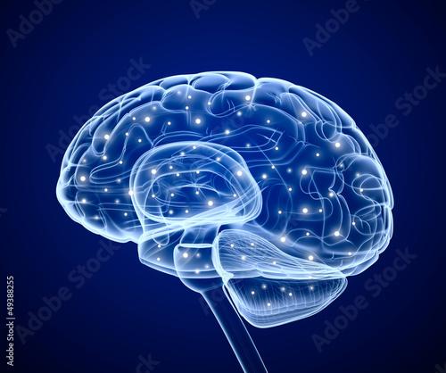 canvas print picture Brain impulses. Thinking prosess.