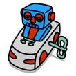 Cartoon Car 68 : Tin Toy Car