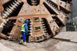huge tunnel boring machine - 49389434