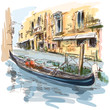Venice - Ancient building & gondola