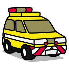 Cartoon Car 73 : Road Patrol Car
