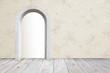 Raumdesign mit Rundbogen-Türe