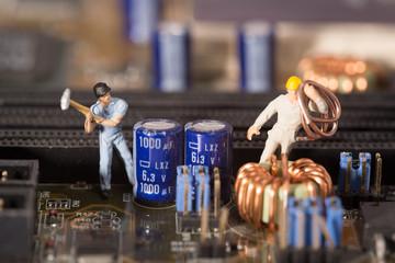 Computer Baustelle Arbeiter