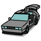 Cartoon Car 78 : Silver Super Car