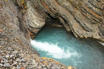 Water pond in rock, Spitsbergen (Svalbard)