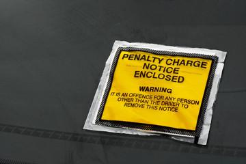 parking fine on windscreen