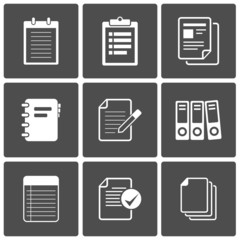 Documents Icons Notepad paper