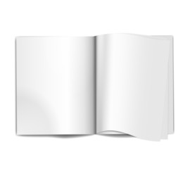Magazine blank pages