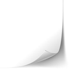 Page Paper Corner Curl