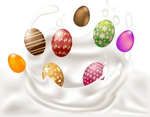 Pasqua - Uova nel latte