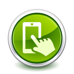 button green smartphone