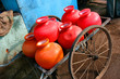 Wasserbehälter auf Karren / Goa, Indien