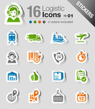 Stickers - Logistic and Shipping icons
