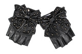 Black women's fingerless gloves