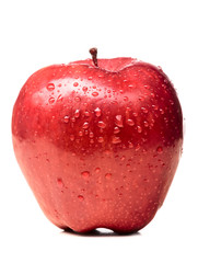 wet red delicious apple