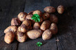 Earthy fresh whole potatoes